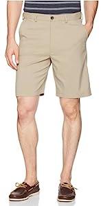 Savane Flat Front Flex-on Solid Short