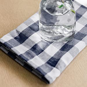 navy buffalo plaid cloth napkins