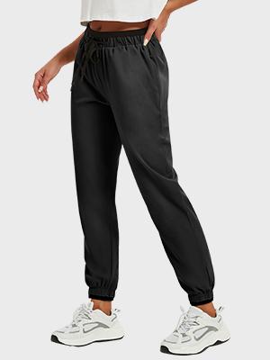 lightweight zipper pockets joggers
