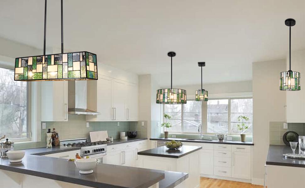 tiffany lamp tiffany pendant light hanging lamp stained glass kitchen island lighting