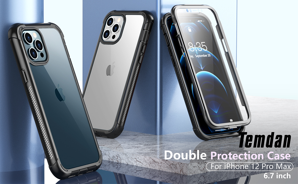 iPhone 12 Pro Max Case Protecitve with Screen Protector