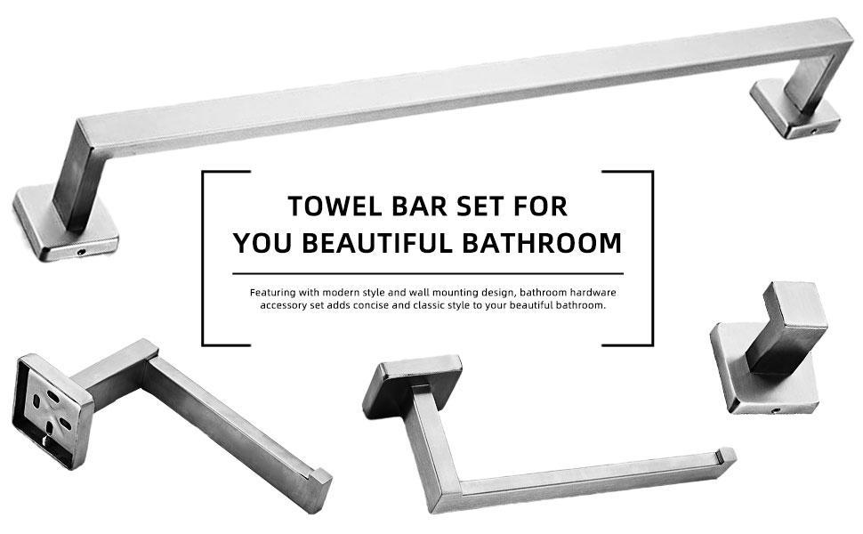 Towel Bar Set for Bathroom