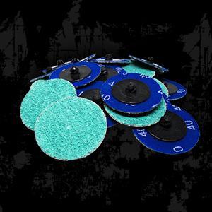 """(B071G6BS9J) 2"""" Roloc Green Zirconia with Grinding Aid Quick Change Sanding Discs"""