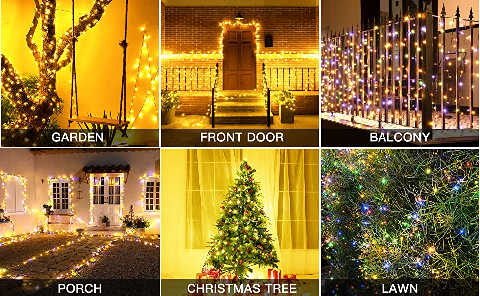 Ollny string lights for Christmas trees, party, wedding, gardenl lawn etc