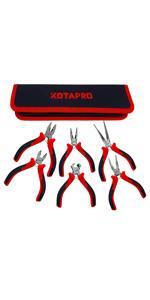 6 pcs Pliers Tool Set Mini,