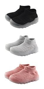 Boys Girls Sneakers Kids Breathable Non Slip Running Walking Sports Shoes for Toddler/Little Kids