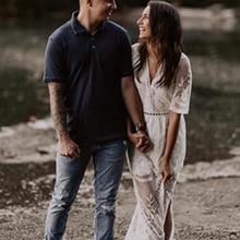 white engagement photo outfits