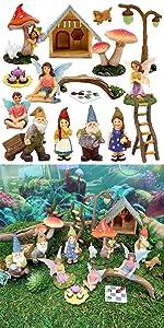 fairy garden complete kit set fairies gnomes accessories tools furniture supplies indoor outdoor