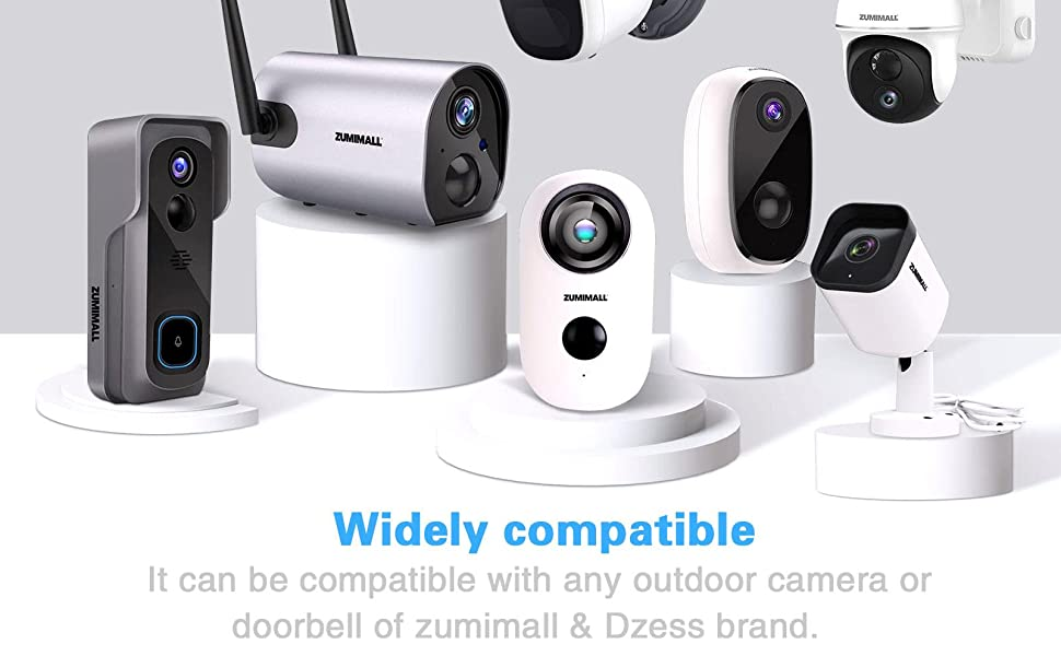 Micro usb cable  widely compatible with  ZUMIMALL outdoor security camera,