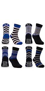Occulto Scivolo - Calcetines infantiles, color azul y negro