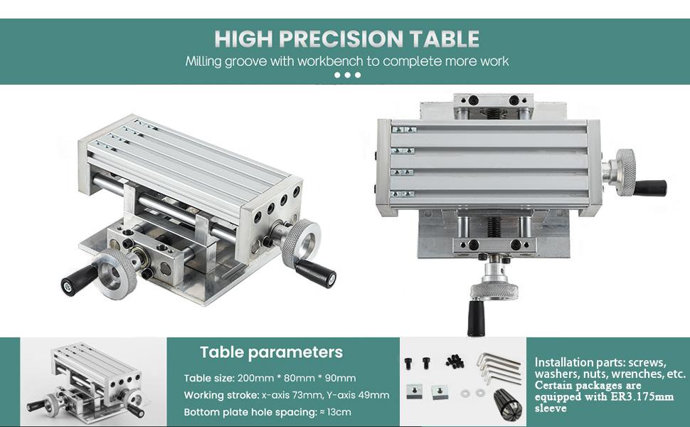 Mini bench drill with high precision milling machine