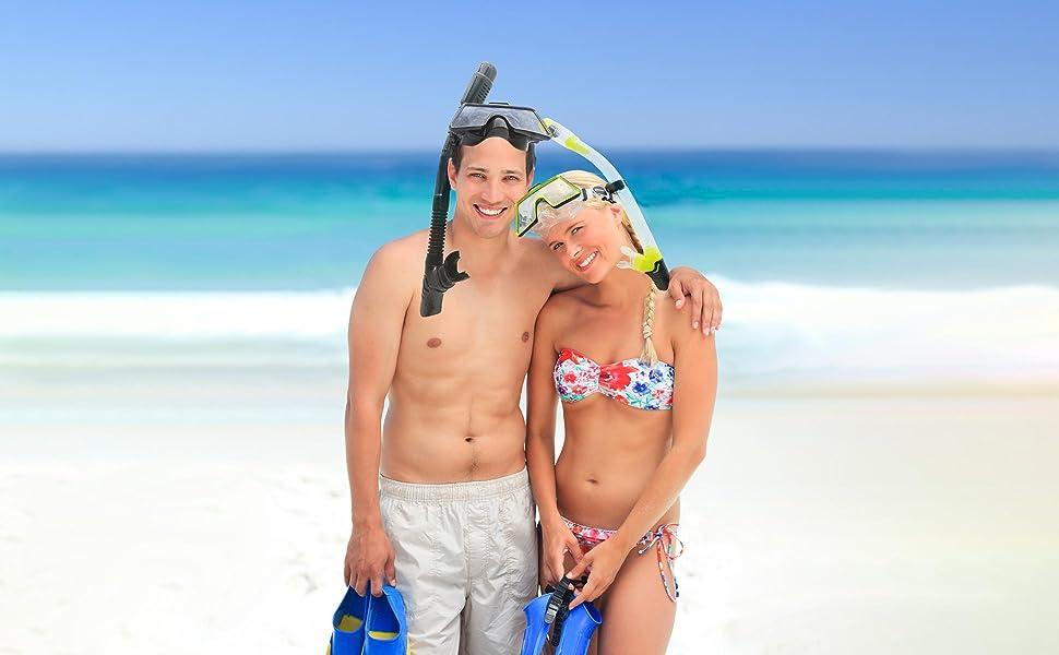adult snorkeling gear anti leak DiVLMT snorkel set diving mask packageanti fog men women senior