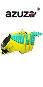 pineapple dog life jacket