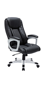 reclinable office chair with massager