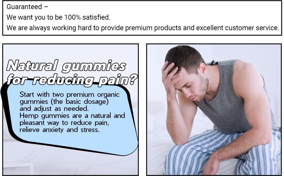 Natural gummies  for reducing pain?