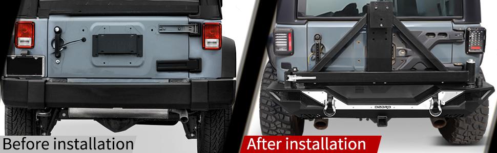 JK rear bumper full width