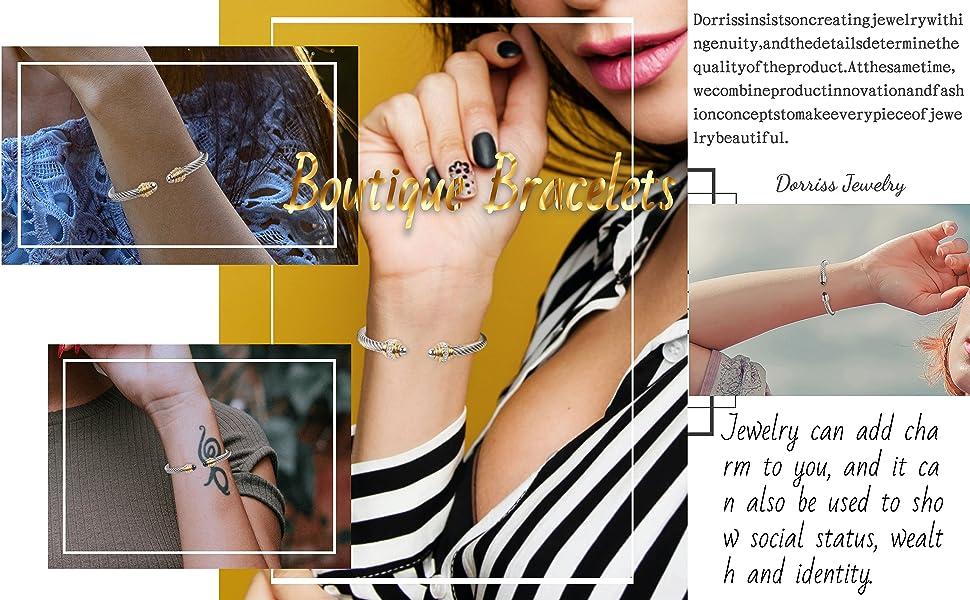 cable bracelets for women