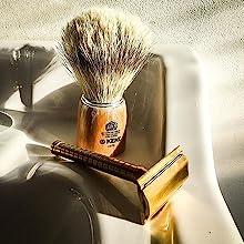 KENT VS70 Shaving Brush with Razor