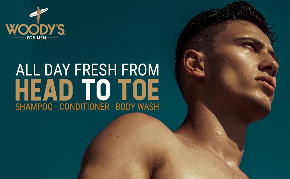 Woodys 3-in-1 Shampoo Conditioner Body Wash