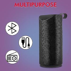 bluetooth wireless speaker sound music high bass waterproof splashproof long battery life SPN-ONL