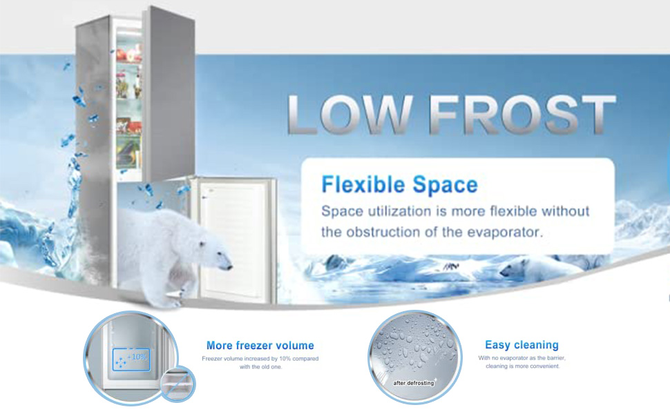 Low frost refrigerator