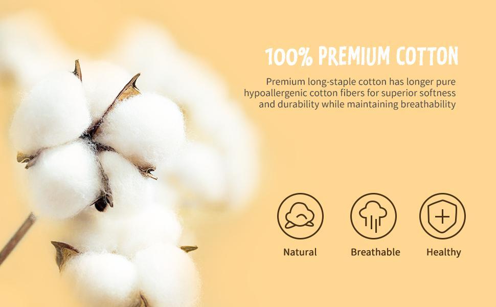 100% premium cotton