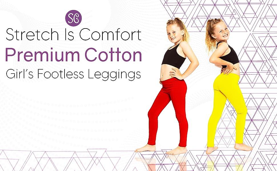 Girls Youth Premium Cotton Footless Leggings Title Module