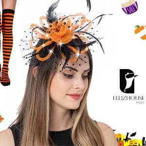 Led light up fascinators  headband for women tea party kentucky derby headpieces