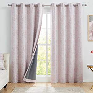 coral pink blackout curtains 52 inches wide linen curtains 96 inches long grommet