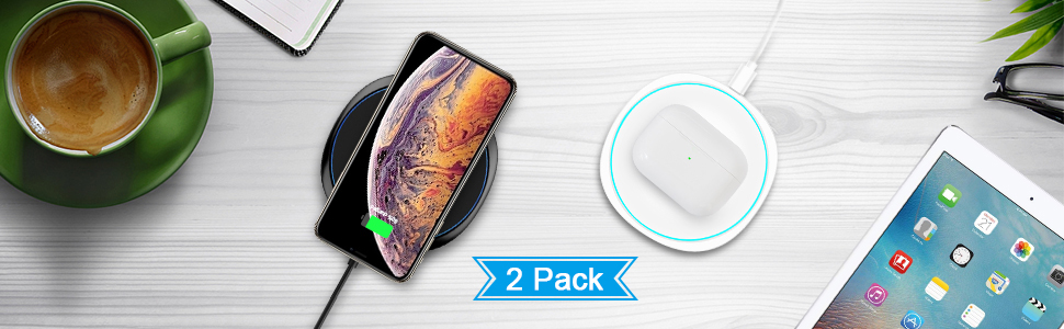 NANAMI fast wirelesss charger for all Qi enabled phones and airpods 2/pro