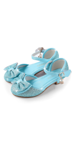 blue princess shoe