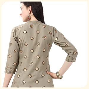 Nainvish Women Cotton Printed Straight Kurti with Palazzo Set SPN-FOR1