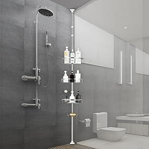 shower pole caddy