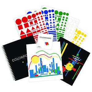 Colorforms colorful repositionable pieces vinyl cling creative