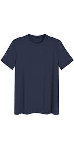 Men's Bamboo Viscose Crew Neck Short Sleeves Pajama Sleep Shirt