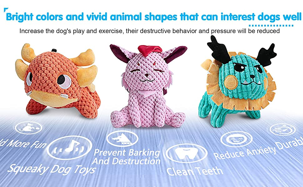 Dog toys with Bright colors and vivid shape