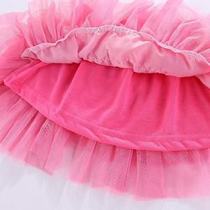LittleSpring Girls Tutu Skirt Outfits Tulle Casual Cute Bow 2pcs Summer Set