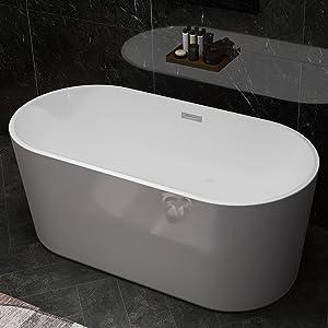 fiberglass freestanding tub for bathroom