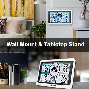 Tabletop & Wall Mount Weather Thermometer