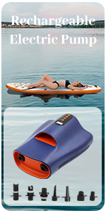 Tuomico rechargeable air pump for surfing