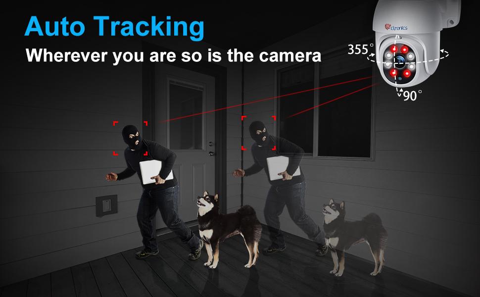 caméra surveillance wifi extérieure dôme