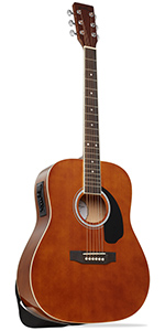 Brown Dreadnought Acoustic Electric Guitar