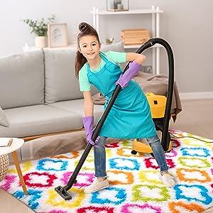 easy clean kids rug
