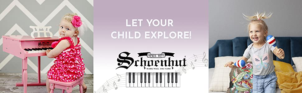 Let your child explore! Schoenhut toddlers playing musical instruments for kids