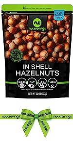 in shell hazelnuts bag