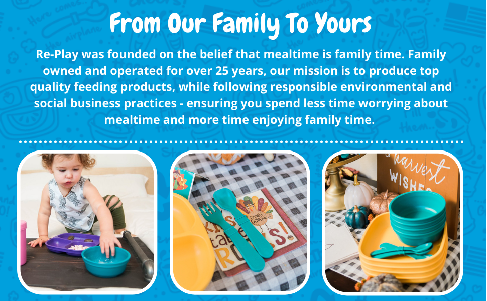 teal colored bowls with matching utensils and silicone lid