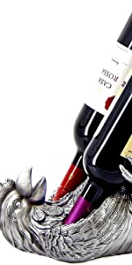 Animal wine bottle holders table top stands for counter kitchen gifts funnu cute