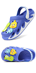 blue kid sandals