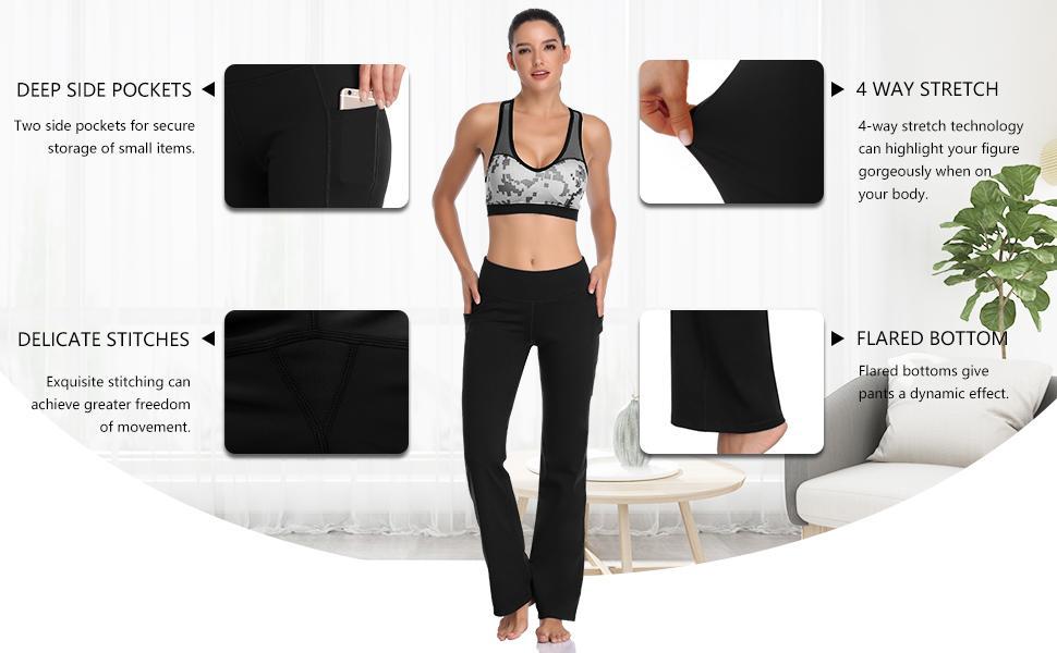 Workout Bootleg Pants for women