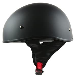 Black Sniper Beanie motorcycle half helmet in matte black for motorbikes scooters cruisers
